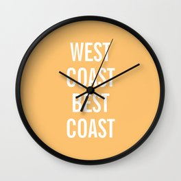 West Coast Best Coast Wall Clock