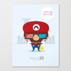 mario 3d Canvas Print