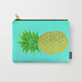 Pineapple on Teal Carry-All Pouch