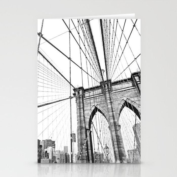 Brooklyn Bridge Stationery Cards by archidesign