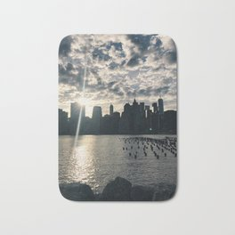 brooklyn views of nyc Bath Mat