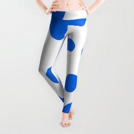 Cow Print Blue Color Spots Background  Leggings