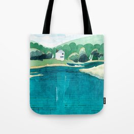 View From Falls Point Marine, Maine Tote Bag