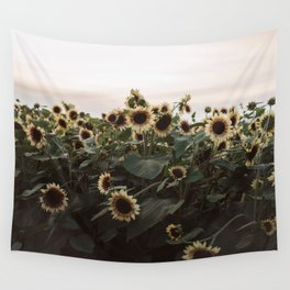 In The Sunflower Field Wall Tapestry