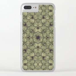 Stylized Modern Floral Design Clear iPhone Case