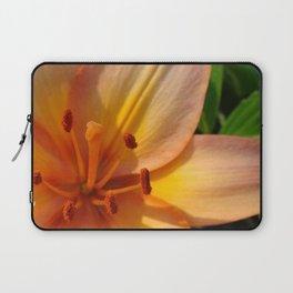 Orange Lily Closeup Laptop Sleeve