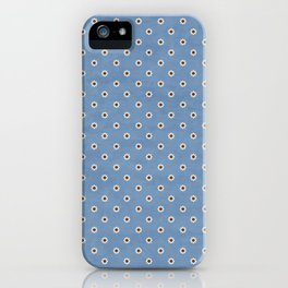 Camomile Pattern on Blue iPhone Case