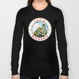 Sofia, Bulgaria, Alexander Nevsky Cathedral, circle, white Long Sleeve T-shirt