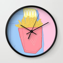 FRENCH FRIES TO-GO Wall Clock