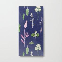 Aromatherapy Blue Metal Print