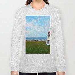 Long Bridge and Tiny Lighthouse Long Sleeve T-shirt