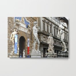 All About Italy. Piece 15 - Florence. David is Everywhere Metal Print