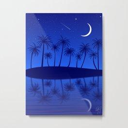 Blue Island Starry Sky Metal Print