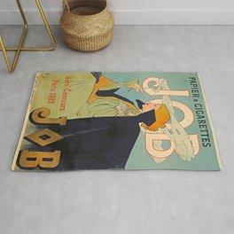 French Vintage Cigarettes Poster Rug