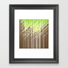 Forest dynamic lines Framed Art Print