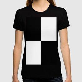 Black and White Squares MINIMALIST DESIGN T-shirt