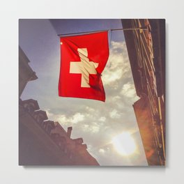 Swiss Flag Metal Print