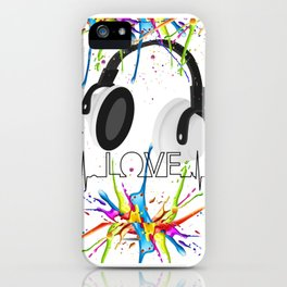Love For Music Color Splash iPhone Case
