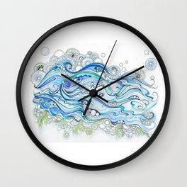 Ocean Seaweed Wall Clock