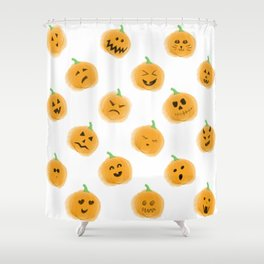 Pumpkin Patch Family Shower Curtain