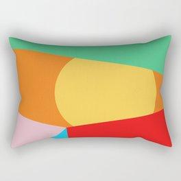 Circle Series - Summer Palette No.1 Rectangular Pillow
