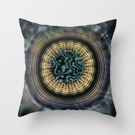 Primal Energy Vibrations Throw Pillow