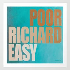 Poor Richard Art Print