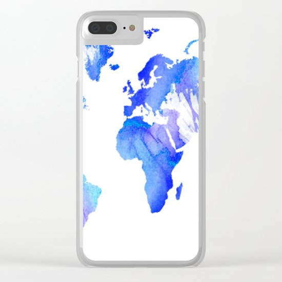 Watercolour World Clear iPhone Case