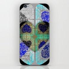 black and blue hidden hearts 3 iPhone & iPod Skin