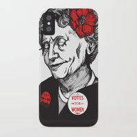 helen iPhone & iPod Cases featuring Helen Keller  by Parker Nugent Illustration
