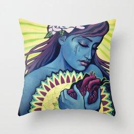Heart Healing Throw Pillow