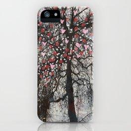 raining hearts iPhone Case