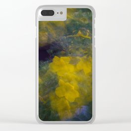 Colorful Flower Motion Clear iPhone Case