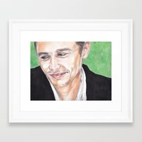 james franco Framed Art Prints featuring James Franco  by Kelley