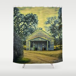 Out Of Gas - Vintage Shower Curtain