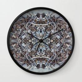 Pebbles and Twigs (Mandala-esque #3) Wall Clock