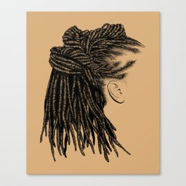 Crown: Wrapped Locs Canvas Print