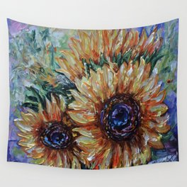 Ah, Sunflower by Lena Owens Wall Tapestry