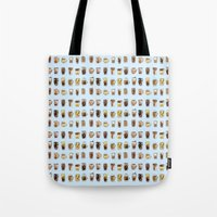 cafe Tote Bags featuring Cafe  by Breakfast Box
