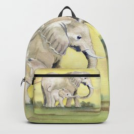 Colorful Mom and Baby Elephant 2 Backpack