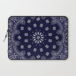 Paisley - Bandana - Navy Blue - Southwestern - Cowboy Laptop Sleeve