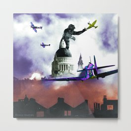 King Kong on St Paul's Metal Print