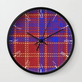 Blue Kilt Tartan Wall Clock