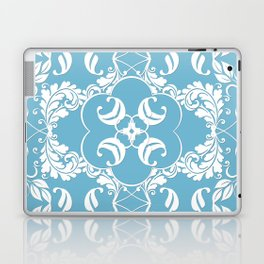 Blue Leaf Lace Laptop & iPad Skin