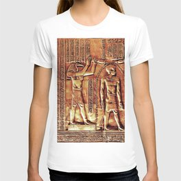 Egyptian Thoth Horus Hieroglyph Pyramid T-shirt