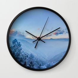 USA Front Range Rocky Mountains Colorado Nature mountain Sky forest landscape photography Scenery Forests Wall Clock