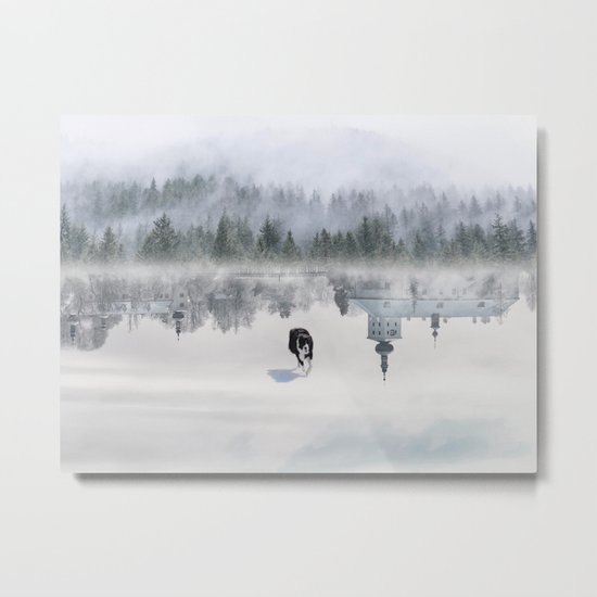 Dreaming Dog Metal Print