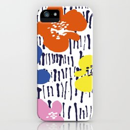 Bold Pen and Ink Floral iPhone Case