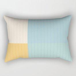 Color Block Lines III Rectangular Pillow