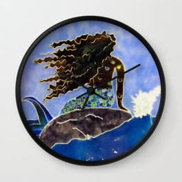 Lady of the Atlantic Crossing Wall Clock